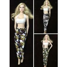 1/6 Crop Top Vest Army Camouflage Clothes for Hottoys TTL Enterbay Female Figure
