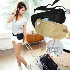 Fine Travel Pouch Hidden Compact Security Money Passport ID Waist Belt Bag New