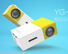 YG-300 400-600 Lumens LCD Projector 320x240 Home Media Player Yellow Free Ship