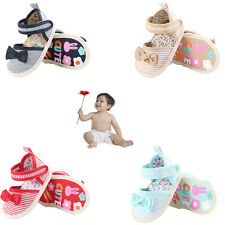 Cute Selling Baby Girls Shoes Summer stripe Bow cotton Toddler Princess Shoes