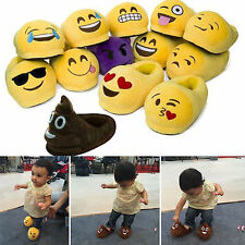 Mens Womens Kids Unisex Emoji Expression Slippers Winter Warm Home Indoor Shoes