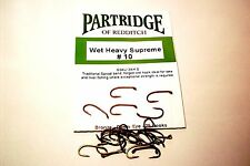 PARTRIDGE WET HEAVY SUPREME TROUT FLY  FISHING HOOKS CODE G3AL FROM FLYMAKERS