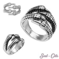1 Stainless Steel Ring Biker Men's gothic Claw shaped Dragon Eagle claw Skeleton