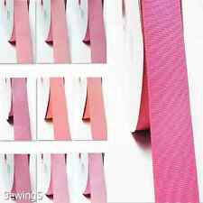 "Polyester Grosgrain Ribbon 7/8"" / 22mm Thin  Wholesale 100 Yards, all Pink Bulk"