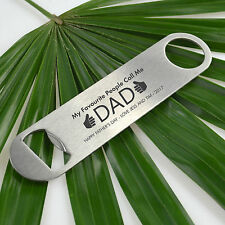 Personalised Favours Happy Father's Day Gift Engraved Bottle Opener Step Dad