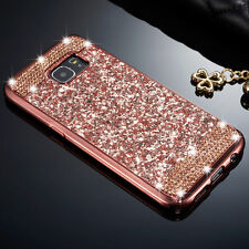 Luxury Slim Glitter Bling Diamond Soft TPU Back Case Cover For iPhone Samsung S