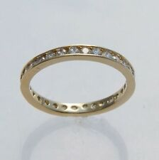 GOLD VERMEIL ETERNITY CUBIC ZIRCONIA CZ TOE RING SIZE 6