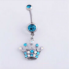 1Pcs Body 6 style Navel  Ring Rhinestones Dangle Jewellery Belly Button Piercing