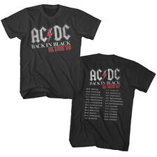 ACDC Mens New T-Shirt 1980 Two Sided Tour 100% Smoke Cotton in Sizes SM - 2XL