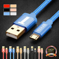 3/6FT Micro USB Data Charging Cable Charger Braided Cord for Android SAMSUNG S7