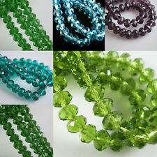 10 Colors Glass Crystal Faceted Rondelle Spacer Loose Beads 3mm/4mm/6mm/8mm Hot