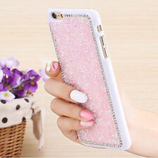 Luxury Glitter Bling Crystal Diamond Back Case Cover For iPhone Samsung Galaxy