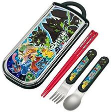 Trio set sliding chopsticks spoon fork set Pokemon XY & Z Pocket monsters XY