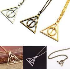 HARRY POTTER DEATHLY HALLOWS PENDANT NECKLACE Jewellery Gift Idea Cosplay Kids