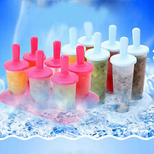 Hot 6pcs Pop Reusable Popsicle Kitchen Frozen Ice Pop Molds DIY Ice Cream Maker