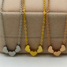 Women Fashion 1Pcs Three Heart Jewelry Charms Pendant Stainless steel Necklace