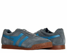 Gola Harrier Suede Navy/Grey/Lime Men's Casual Shoes CMA192GD