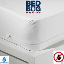 BED BUG COVERS Any Size Allergy Safe Waterproof Zipper Vinyl Mattress Protector