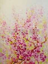 Handmade Abstract Flower Oil Painting On Cotton Canvas For Home Decoration