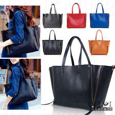 Women's Real Leather Large Shoulder Crossbody Shopper Shopping Tote Handbag Bag
