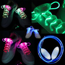 1Pair Shiny LED Shoelaces Flash Light Up Glow Stick Strap Shoelaces Disco Party