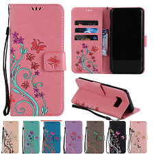 Luxury Butterfly Leather Wallet Flip Stand Case Cover Pouch For Samsung Galaxy M