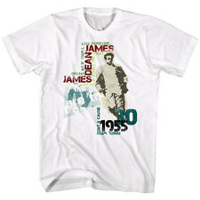 OFFICIAL MEN'S T SHIRT JAMES DEAN in SIZES SM - 5XL TYPOGRAPHY IN WHITE COTTON