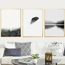 Modern Wall Art Hanging Minimalist Forest Trees Painting Frescoes Home Decor