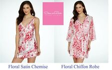 Oscar de la Renta Floral chiffon Robe and Chemise (nightgown) separates or set