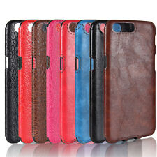 For Oneplus 5 Shockproof Soft TPU Crocodile Skin Texture PU Leather Cover Case