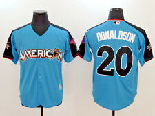 Josh Donaldson #20 Blue 2017 MLB All-Star Game Authentic Home Run Derby Jersey