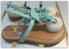 Healthtex Girls' Toddler SIZE 8 Mint Green Faux Leather elastic back Sandals