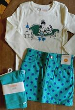 Skort Set 3pc Turquoise Gymboree Green Skort Top Leggings Sizes 4  New