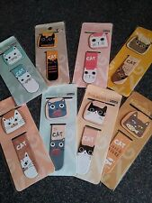 PK OF 2 CUTE KAWAII MAGNETIC CAT BOOKMARKS PAGE FINDER MARKERS BOOK MARKS BNIP