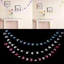 2.8m Baby Shower Party Birthday Butterfly Paper Garland Banner Art Hanging Decor