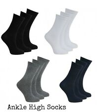 6 PAIRS ANKLE SOCKS GIRLS  EVERYDAY SOCKS BOY SCHOOL ANKLE LENGTH SOCK ALL SIZE