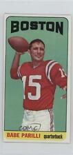 1965 Topps #17 Babe Parilli New England Patriots Football Card