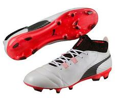 Puma One 17.1 FG Men's Soccer Cleats Football Shoes White/Black/Red 1707