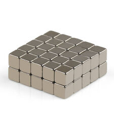 "US 50/100pcs Neodymium Cube Block Magnets 4 x 4 x 4mm (0.15"") Rare Earth N50 OMO"