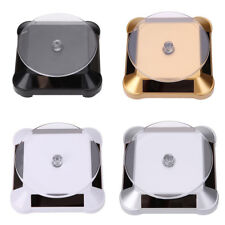 Rotating Solar Power Jewelry Phone Watch Display Stand Holder Turn Table Utility