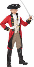 BRAND NEW Colonial Revolutionary War DELUXE CHILD BRITISH REDCOAT COSTUME
