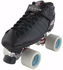 Riedell R3 Derby PLUS Quad Roller Speed Skates w Presto Wide Wheels Choose Color