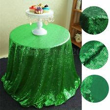 Green Sequin Tablecloth 48''-132'' Round for Wedding/Dessert Dinning Table