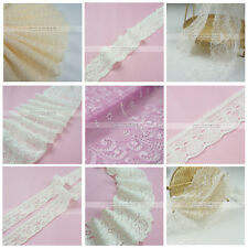 10 Metres Accessories Stretch Guipure Lace Trim Bridal Wedding White Puple Nude