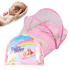 Lovely Portable Folding Summer Infant Crib Cradle Mosquito Net Mesh Tent Canopy
