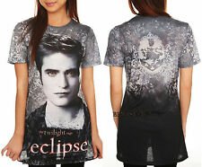 NEW Twilight Saga ECLIPSE Edward Cullen Vampire Sublimation Tee T Shirt X-Small