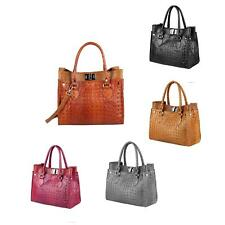 ITALIAN WOMEN'S LEATHER BAG Business Shopper Handbag Real leather Tote BAG