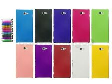 Hard Cover Case for Sony Xperia M2 S50h S2305 S2306 + Screen Protector + Stylus
