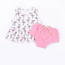 3-36 Months Baby Girls Summer Outfits Cute Cartoon Kids Tees&Shorts Pants Sets