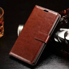 Flip Magnetic Credit Card Holder Wallet Leather Case Cover For iPhone Samsung  M